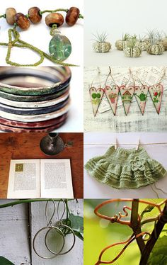 Spring Greens by Danielle on Etsy--Pinned with TreasuryPin.com