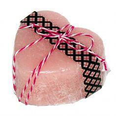 DIY Homemade Valentine's Day Gift Idea - Handmade Triple Butter Solid Sugar Scrub Hearts - Great Handmade Gift Idea for Women