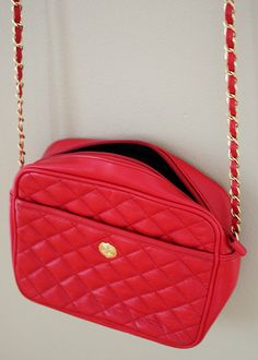 Red Quilted Crossbody Purse by DCXSpringfield on Etsy, $42.00