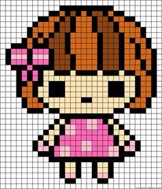 Girl perler bead pattern
