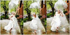 Rainy day wedding, fun idea for wedding photography