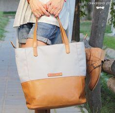 SUNNY Grey handmade leather bag by Annamaria Pap Price: 112€ http://facebook.com/annamariapap