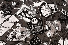 Tim Burton's the Nightmare Before Christmas Oxford Fabric made in Japan, FQ by or by Nightmare Before Christmas Characters, Oxford Fabric, Japanese Fabric, Jack Skellington, Tim Burton, South America, Fabric Crafts, My Etsy Shop, Quilts