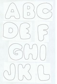 Printable Block Letters and Numbers for Scrapbooking and