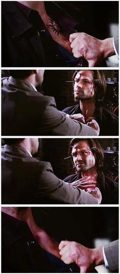 Am I the only one who thinks Gadreel!Sam is way waaaay creepier than Lucifer!Sam?