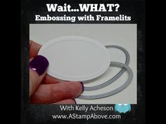 I have a video showing you how to emboss with your framelits – WAIT…. Y… – 2019 - Scrapbook Diy Card Making Tips, Card Tricks, Card Making Techniques, Making Ideas, Embossing Techniques, Scrapbooking, Scrapbook Stamping, Scrapbook Cards, Embossed Cards