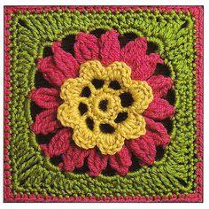 50 Crochet Granny Squares Flowers Patterns Afghan Motif
