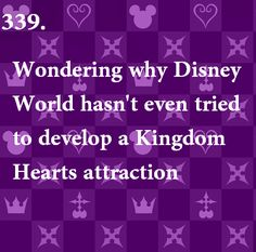 Wondering why Disney seemingly ignores KH, despite the fact that half of all the Disney characters are in it... O_o