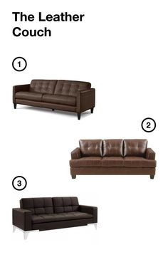 affordable leather couch options