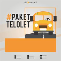 Telolet Bus Vector for Instagram Picture Promote