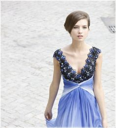 Cheap Royalty Blue Quinceanera or Evening Gown Dress Sale on sale ...