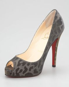 Christian Louboutin - Very Prive Lame Pump - On-trend leopard-print gets the metallic treatment on this edition of the very famous Christian Louboutin Very Prive pump.