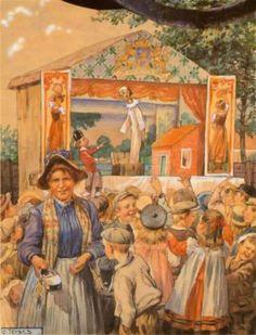 de populaire poppenkast op een tekening van C.Jetses