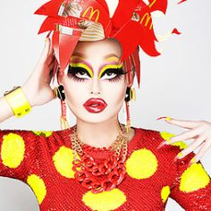 Kim Chi from RuPaul's Drag Race Season 8 Drag Queen Makeup, Drag Makeup, Drag Queens, Rpdr Season 8, Kim Chi Drag, Drag Me To Hell, Shady Lady, Rupaul Drag, Club Kids