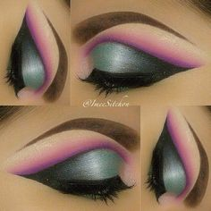Unique eye makeup