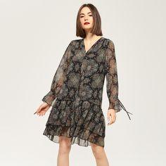 Zwiewna sukienka w stylu boho, SUKIENKI, wielobarwn, RESERVED