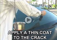 Fix a cracked windshield in few steps. you need is salt, bug spray, rubbing alcohol and water. ¼ cup of water is poured in a mixing bowl. Then, ½ teaspoon each of bug repellent, rubbing alcohol and salt are added. Stirred until the salt is dissolved. Mix a thin coat is applied to the crack. Wait two hours. Ingredients react together to soften the plastic. The salt then acts as temporary filler in the mix.