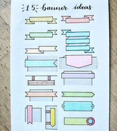 Best Bullet Journal Banner Ideas For 2020 - Crazy Laura If you want to add some extra decoration to your titles and headers, check out these awesome bullet journal banner ideas and tutorials for inspiration! Bullet Journal School, Bullet Journal And Diary, Bullet Journal Titles, Bullet Journal Banner, Journal Fonts, Bullet Journal Aesthetic, Bullet Journal Notebook, Bullet Journal Inspiration, Bullet Journal Revision