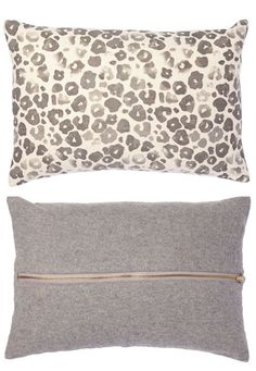Washed Leopard Print Pillow