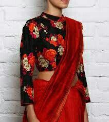 Saree Blouse Patterns, Saree Blouse Designs, Blouse Styles, Latest Saree Blouse, Sari Blouse, Modern Saree, Bollywood Fashion, Saree Fashion, Women's Fashion