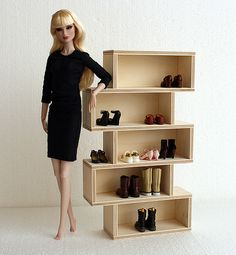 Barbie dolls residences, everything from traditional wood-based holds to Barbie Dreamhouses. Barbie House Furniture, Modern Dollhouse Furniture, Doll Furniture, Barbie Doll House, Barbie Dolls, Accessoires Lps, American Girl Furniture, American Girl Diy, Doll House Plans