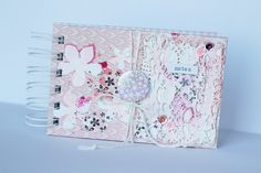 Eye Products, Handmade Notebook, 3rd Eye, Notebooks, Stencils, Stamps, Button, Eyes, Flowers