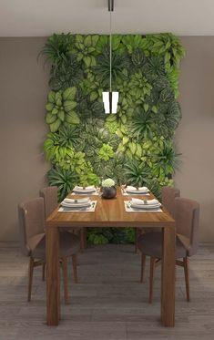 Living green chlorophytes frame for the dining room Outdoor Furniture Sets, Decor, Vertical Garden Wall, Green Dining Room, Rooms Home Decor, Garden Wall Decor, Interior Garden, Plant Decor, House Plants Decor