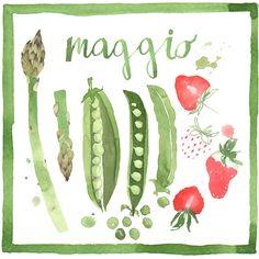 Spingtime Veggies - Giorgia Bressan Illustration