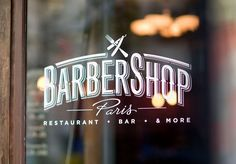 IDENTITY & ILLUSTRATION FOR THE BARBERSHOP PARIS. IT'S A RESTAURANT WHOSE DESIGN IS A BLEND OF A VINTAGE AMERICAN DINER AND A FRENCH BRASSERIE. I MADE THE WHOLE IDENTITY OUT OF THIS TWO-SIDED ASPECT, TRYING TO MIX THE RETRO AMERICAN DINER CHARACTER WITH A MORE TRADITIONAL FRENCH ONE. PHOTOS BY BENOIT GUENOT.