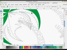 "09-COREL DRAW TUTORIAL ""MAKING A VECTOR ART PALMTREE"" (BEZIER FREEHAND T..."