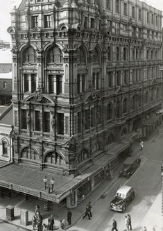 Former Town Hall Chambers, N-E corner of Swanston Street and Little Collins Street - demolished by Council for pocket park, 1968