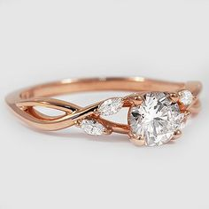 Willow engagement ring in rose gold