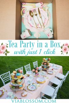 Our Tea Party in a Box has all the Tea Party Decorations you will need for a fabulous Tea Party or Floral themed celebration! It is ideal for a girl birthday party for a Tea Party themed Bridal shower or for a Baby Shower Tea Party! Fairy Tea Parties, Girls Tea Party, Princess Tea Party, Tea Party Theme, Tea Party Birthday, Girl Birthday, Birthday In A Box, Tea Party For Kids, Princess Themed Birthday Party