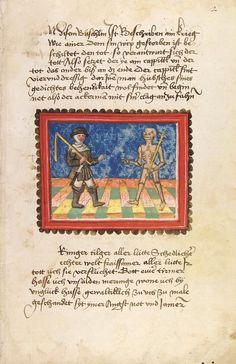 Johannes von Tepl: Der Ackermann aus Böhmen (Blatt 2v der Handschrift UB Heidelberg, Cod. pal. germ. 76)