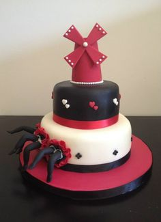 moulin rouge cake - bachelorette party