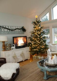 Come on by to tour a beautifully decorated Christmas Living Room