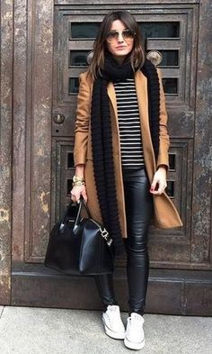Trendy Ideas For Clothes Outfits Ideas Leather Leggings Source by outfits invierno 2019 Mode Outfits, Fashion Outfits, Womens Fashion, Fashion Trends, Fashion Clothes, Sneakers Fashion, 70s Outfits, Sneakers Style, Black Outfits