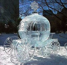 Ice carriage on the street of St.Petersburg, Russia