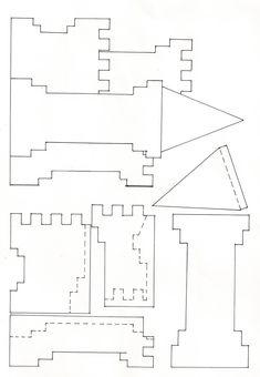 template for castle card - Buscar con Google