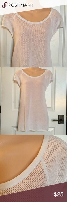 🔷🔹Mesh Top🔹🔷NWOT This 100% cotton top has dolman sleeves with a rolled hem,  a banded neckline, cute asymmetrical seaming on front, and a rolled hem. Soft and comfy - wear as a tunic over a camisole or as a cover up. Brand new w/o tags. Liz Claiborne Tops Tunics