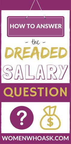 How to Answer the Dreaded Salary Question Professional Development, Personal Development, Mean Women, Work Life Balance, Resume Writing, How To Find Out, How To Make, Career Advice, New Job