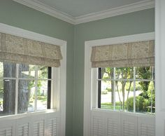 Roman shades furnished and installed by Kite's Interiors.