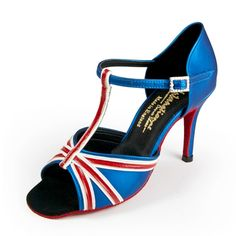 CRAZY Union Jack ballroom dance shoes