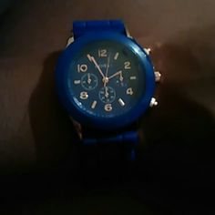 Watch Royal blue rubber band watch Geneva   Accessories Watches
