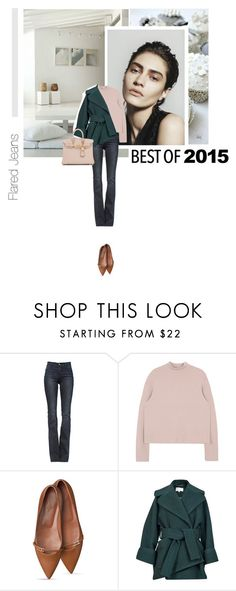 """Best of 2015:Flared Jeans"" by s-thinks ❤ liked on Polyvore featuring Frame Denim, Carven, Hermès, CasualChic, flaredjeans and bestof2015"