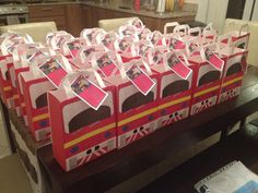 Fireman Sam party bags all ready to go!