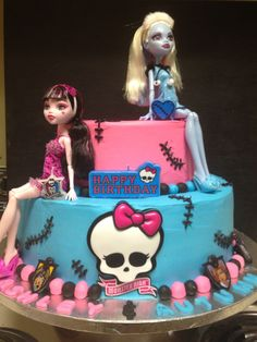 Monster High cake for Ashley and Autumn