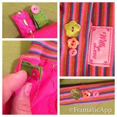 Details of pink skirt