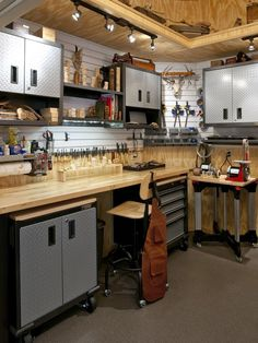 """Garage And Shed Design, Pictures, Remodel, Decor and Ideas - page 11, minus the """"guy decor"""" of course"""
