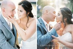 Portrait of bride and groom before Curtis Center Wedding. Photos by Jordan Brian Photography.
